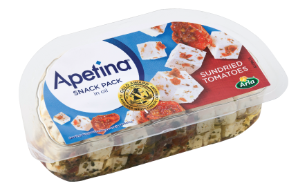 Apetina® white cheese cubes in oil with sundried tomatoes