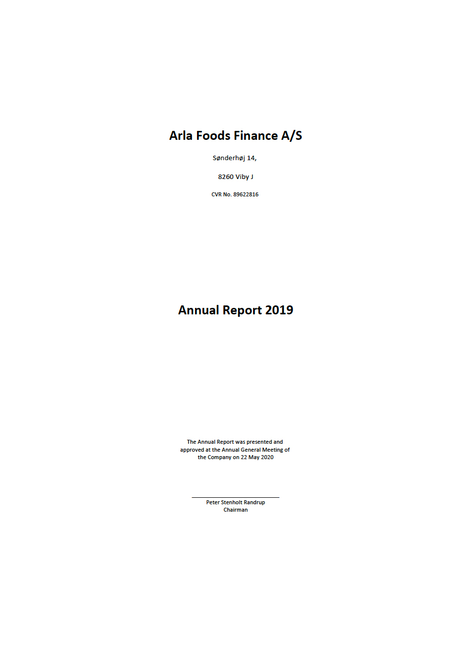 Arla Foods Finance A/S 2019