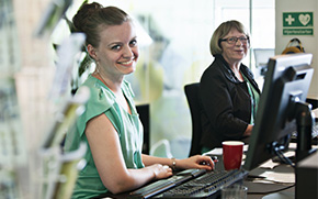 Contact the Arla reception desk
