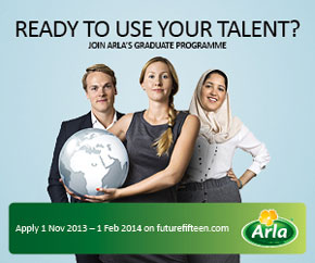 Apply for Arla Foods F15 graduate programme 2014